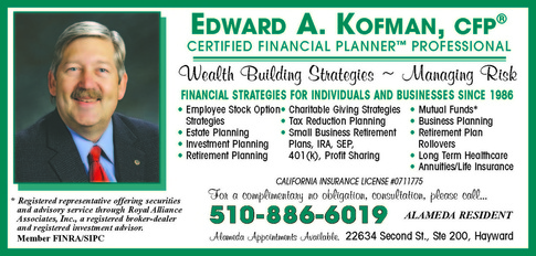ed kofman certified financial planner in alameda ca