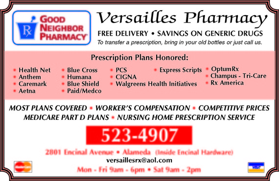 Versailles Pharmacy  in Alameda CA